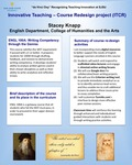 ENGL 100A: Writing Competency through the Genres Course Redesign by Stacey Knapp
