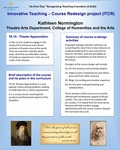 TA 10: Theater Appreciation Course Redesign by Kathleen Normington