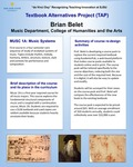 MUSC 1A: Music Systems Textbook Alternatives by Brian Belet