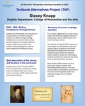 ENGL 100A: Writing Competency Through Genres Textbook Alternatives by Stacey Knapp