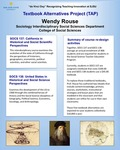 SOCS 137: California in Historical and Social Scientific Perspectives Textbook Alternatives by Wendy Rouse