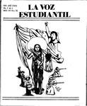 La Voz Estudiantil, Volume 2, No. 2 by San Jose State University, Mexican American Graduate Studies