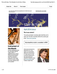 Stay in Time, Apr. 2014 by San Jose State University, School of Music and Dance