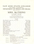 Mrs. McThing (1958) by San Jose State University, Theatre Arts