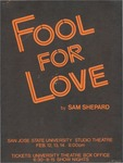 Fool for Love (1987) by San Jose State University, Theatre Arts