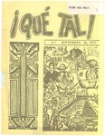 ¡Qué Tal! September 16, 1970 by Mexican American Graduate Studies, San Jose State College