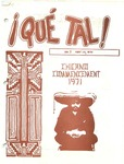 ¡Qué Tal! May 15, 1971 by Mexican American Graduate Studies, San Jose State College