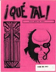 ¡Qué Tal! September 20, 1972 by Mexican American Graduate Studies, San Jose State University
