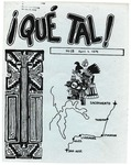 ¡Qué Tal! April 1, 1974 by Mexican American Graduate Studies, San Jose State University