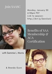 Benefits of SAA Membership and ACA Certification by Sammie L. Morris and Brenda Gunn