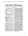 Special Libraries, February 1910 by Special Libraries Association
