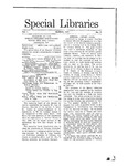 Special Libraries, March 1910 by Special Libraries Association
