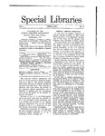 Special Libraries, April 1910 by Special Libraries Association