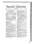 Special Libraries, June 1910