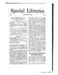 Special Libraries, September 1910 by Special Libraries Association