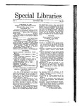 Special Libraries, October 1910