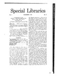 Special Libraries, November 1910 by Special Libraries Association