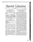 Special Libraries, December 1910 by Special Libraries Association
