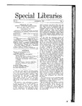 Special Libraries, January 1911