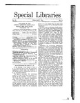 Special Libraries, February 1911 by Special Libraries Association