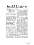 Special Libraries, March 1911