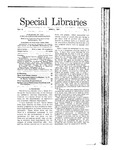 Special Libraries, April 1911 by Special Libraries Association
