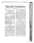 Special Libraries, May 1911 by Special Libraries Association
