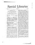 Special Libraries, June 1911 by Special Libraries Association