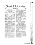 Special Libraries, September 1911 by Special Libraries Association