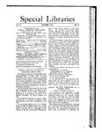 Special Libraries, October 1911 by Special Libraries Association