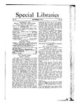 Special Libraries, November 1911 by Special Libraries Association
