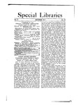 Special Libraries, December 1911 by Special Libraries Association