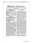 Special Libraries, January 1912 by Special Libraries Association