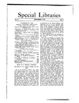 Special Libraries, September 1912 by Special Libraries Association