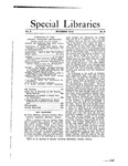 Special Libraries, November 1912 by Special Libraries Association