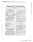 Special Libraries, December 1912 by Special Libraries Association