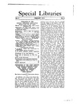 Special Libraries, February 1913 by Special Libraries Association