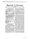 Special Libraries, April 1913