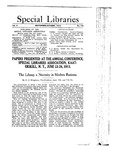 Special Libraries, September-October 1913