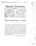 Special Libraries, January 1914 by Special Libraries Association