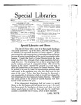 Special Libraries, May 1914 by Special Libraries Association