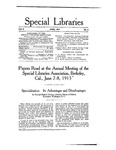 Special Libraries, June 1915 by Special Libraries Association