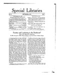 Special Libraries, September 1915 by Special Libraries Association