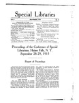 Special Libraries, November 1915 by Special Libraries Association