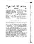 Special Libraries, January 1916 by Special Libraries Association