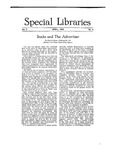 Special Libraries, April 1916 by Special Libraries Association