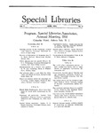 Special Libraries, June 1916 by Special Libraries Association