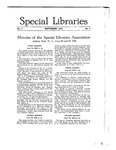 Special Libraries, September 1916