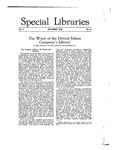 Special Libraries, October 1916 by Special Libraries Association