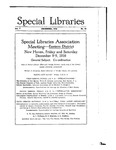 Special Libraries, December 1916 by Special Libraries Association
